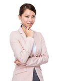 Businesswoman with pen Stock Photo