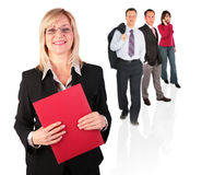 Businesswoman and people group Stock Images