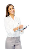 Businesswoman with personal organizer Stock Photos