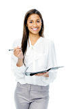 Businesswoman with personal organizer Royalty Free Stock Photo