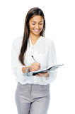 Businesswoman with personal organizer Royalty Free Stock Photography