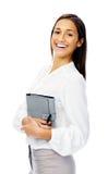 Businesswoman with personal organizer Stock Photos
