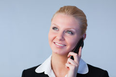 Businesswoman on the phone Royalty Free Stock Photos