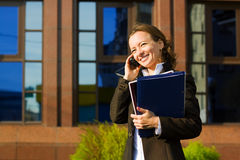 Businesswoman on the phone. Stock Image