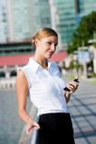 Businesswoman With Phone Royalty Free Stock Images