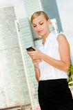 Businesswoman With Phone Stock Photography