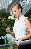 Businesswoman With Phone Stock Images