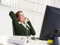 Businesswoman on the phone Stock Photos