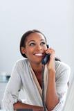 Businesswoman on phone Stock Photo