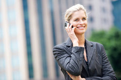 Businesswoman with Phone Royalty Free Stock Photo