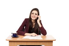 Businesswoman on phone Stock Images