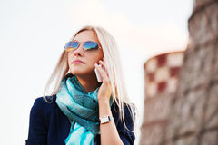 Fashion business woman calling on the cell phone Stock Photos