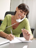 Businesswoman phone. stock images