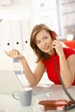 Businesswoman on phone Stock Photo