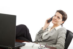 Businesswoman on the phone Stock Photography