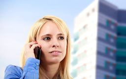 Businesswoman phone Royalty Free Stock Photo
