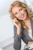 Businesswoman on the phone Royalty Free Stock Images