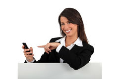 Businesswoman with phone Stock Photos
