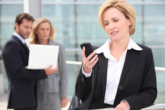 Businesswoman on the phone Stock Images