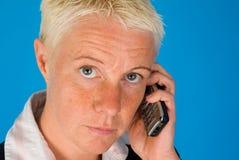 Businesswoman with phone Stock Photos