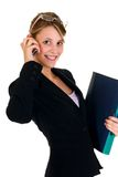 Businesswoman on phone Royalty Free Stock Image