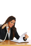 Businesswoman on the phone royalty free stock photo