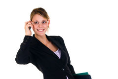 Businesswoman on phone Stock Photos