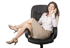 Businesswoman on the phone stock image