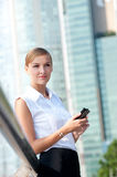 Businesswoman With Phone Royalty Free Stock Photos