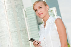 Businesswoman With Phone Stock Image