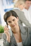Businesswoman on phone call Royalty Free Stock Photo