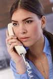 Businesswoman on phone call Stock Images
