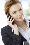 Businesswoman on phone call Royalty Free Stock Images
