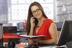 Businesswoman on phone call Royalty Free Stock Image