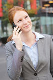 Businesswoman on the Phone in a City Royalty Free Stock Photography