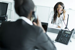 Businesswoman on the phone Royalty Free Stock Image