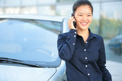 businesswoman on the phone outdoor Royalty Free Stock Images