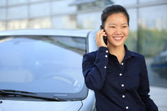 Businesswoman on the phone outdoor Royalty Free Stock Image