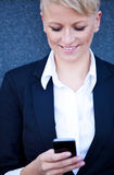 businesswoman phone smart using Στοκ Φωτογραφία
