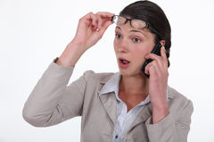 Businesswoman on the phone. Royalty Free Stock Image