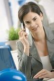 businesswoman phone talking Стоковые Фотографии RF