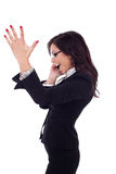 Businesswoman on the phone winning Stock Image