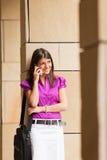 businesswoman phone young Στοκ Εικόνα
