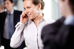 Businesswoman phoning Royalty Free Stock Image