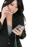 Businesswoman phoning a client Royalty Free Stock Image