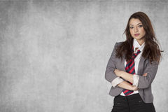 Businesswoman with a place for your AD Stock Images