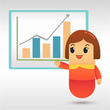 Businesswoman plan business strategy Royalty Free Stock Photos