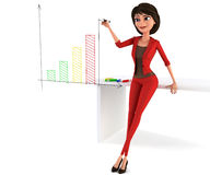 Businesswoman planning Royalty Free Stock Images