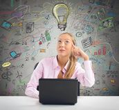 Businesswoman planning Stock Images