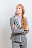 Businesswoman Planning or Thinking Royalty Free Stock Images